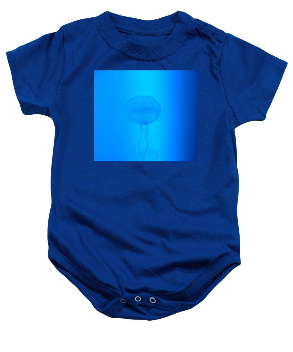 Jellyfish Baby Onesie featuring the photograph Illuminati Jellyfish by Heather Lennox