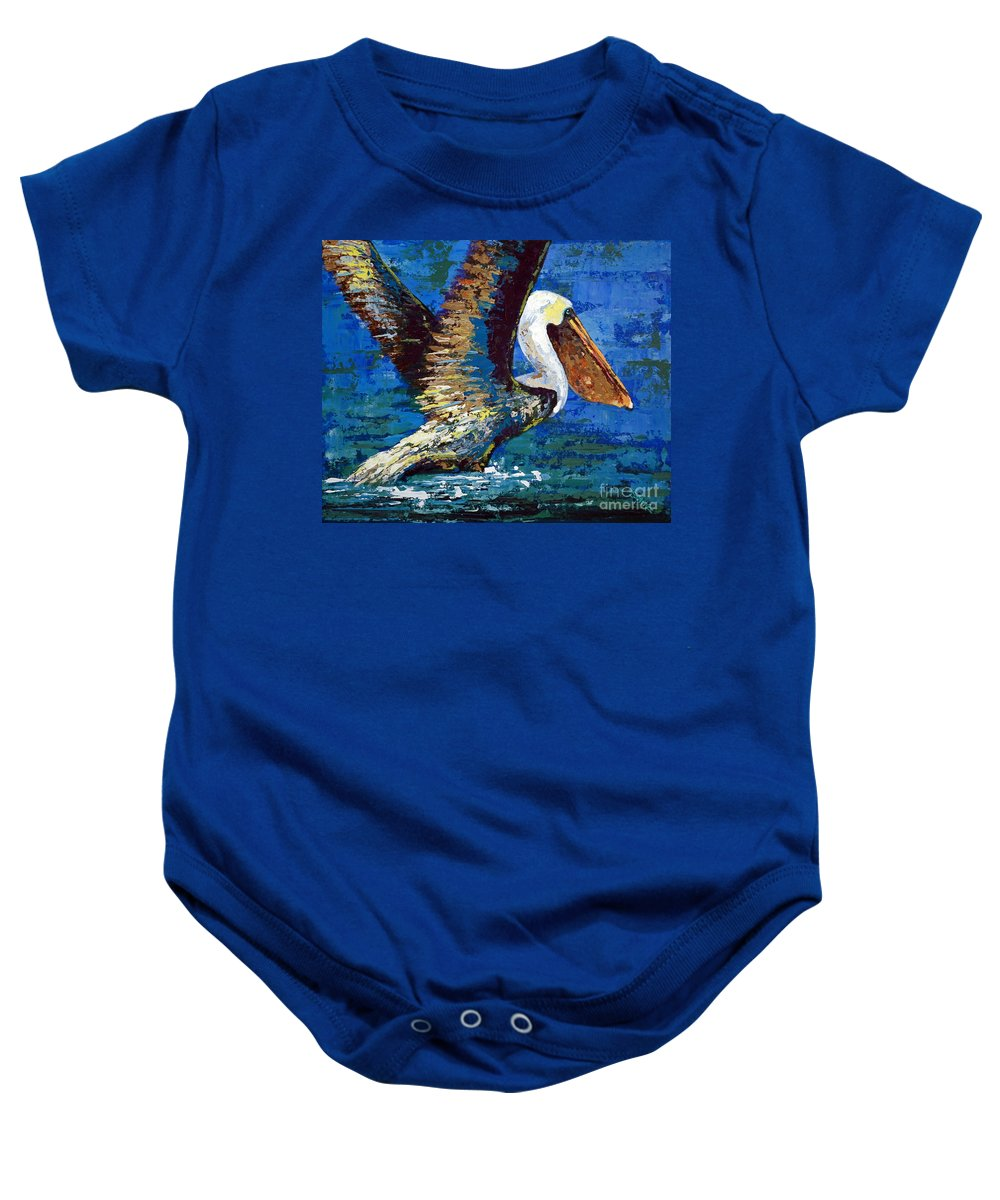Acrylic Baby Onesie featuring the painting Im Outa Here by Suzanne McKee