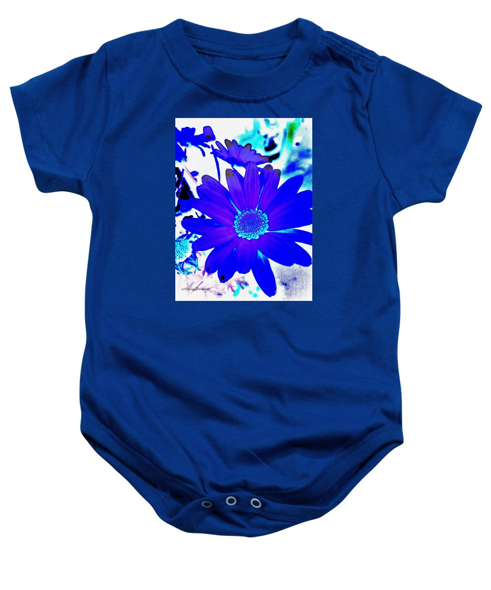 Photograph Baby Onesie featuring the photograph Blue by MaryLee Parker