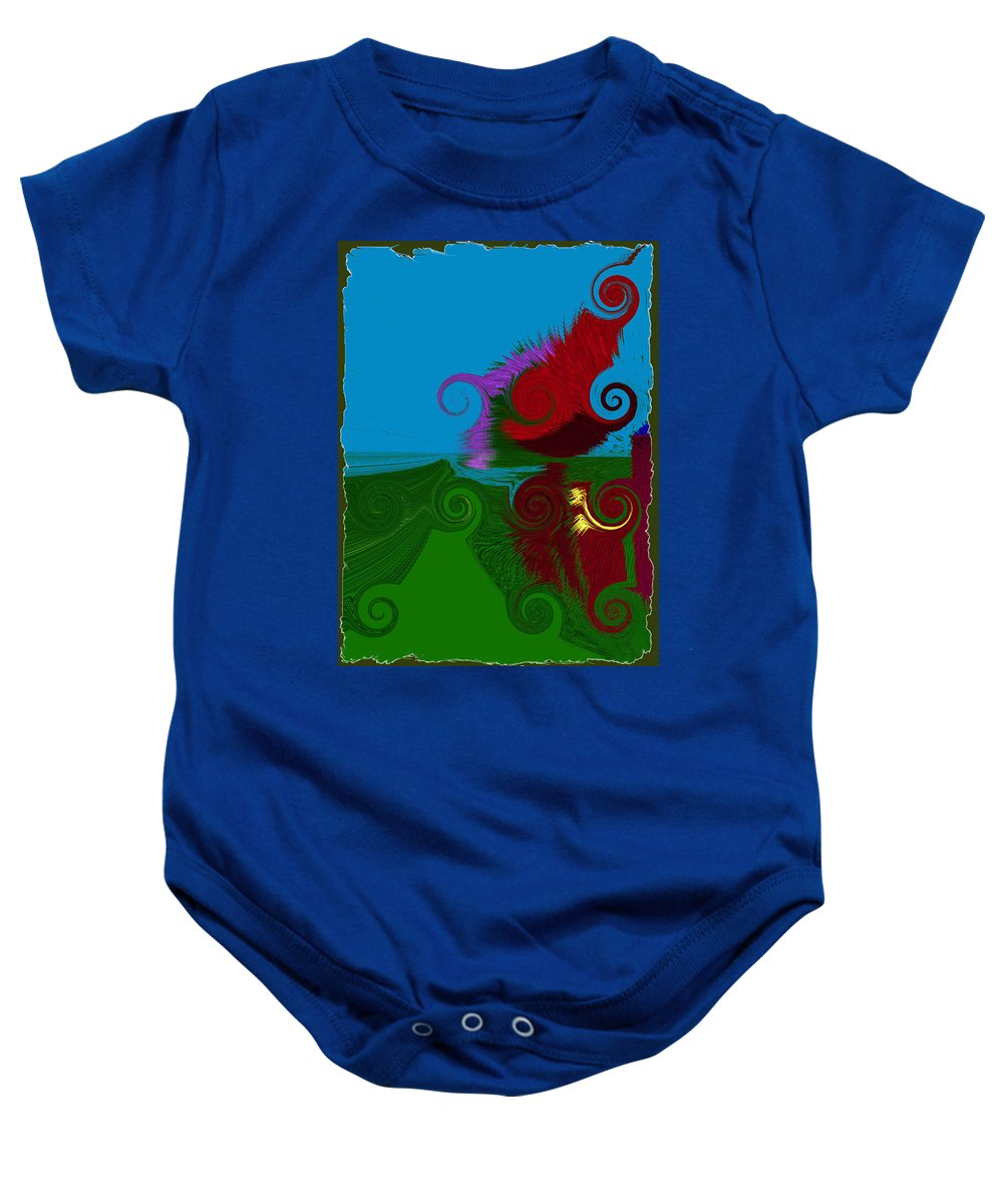 Digital Baby Onesie featuring the digital art In The Land Of Suess by Donna Blackhall