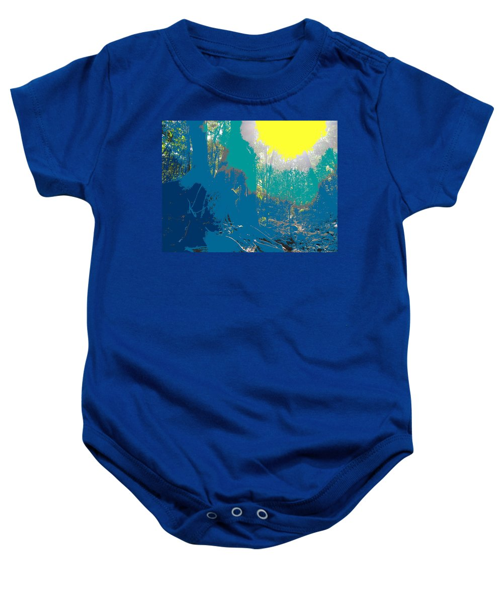Rainforest Baby Onesie featuring the photograph In The Rainforest by Ian MacDonald