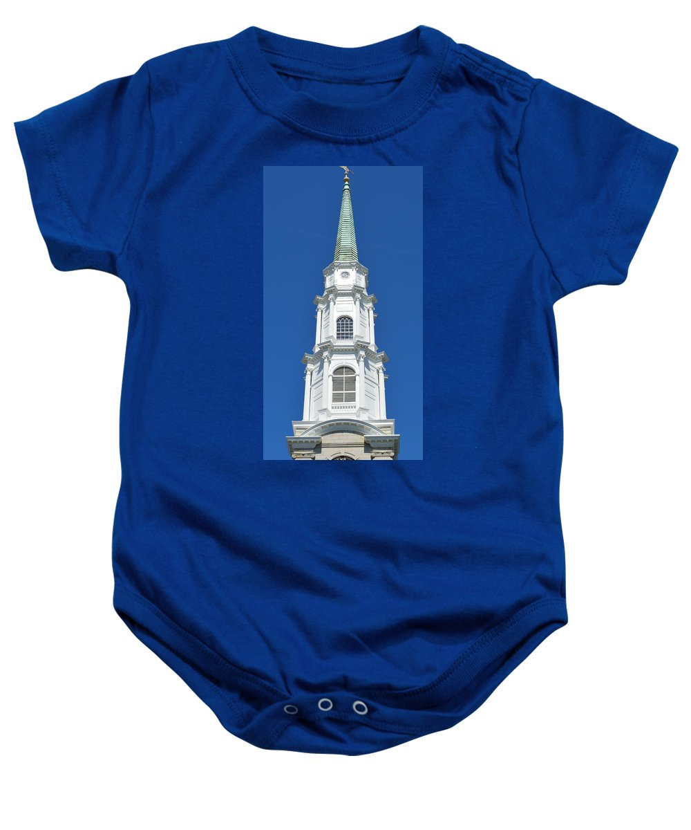Presbyterian Baby Onesie featuring the photograph Independent Presbyterian Church by Linda Covino