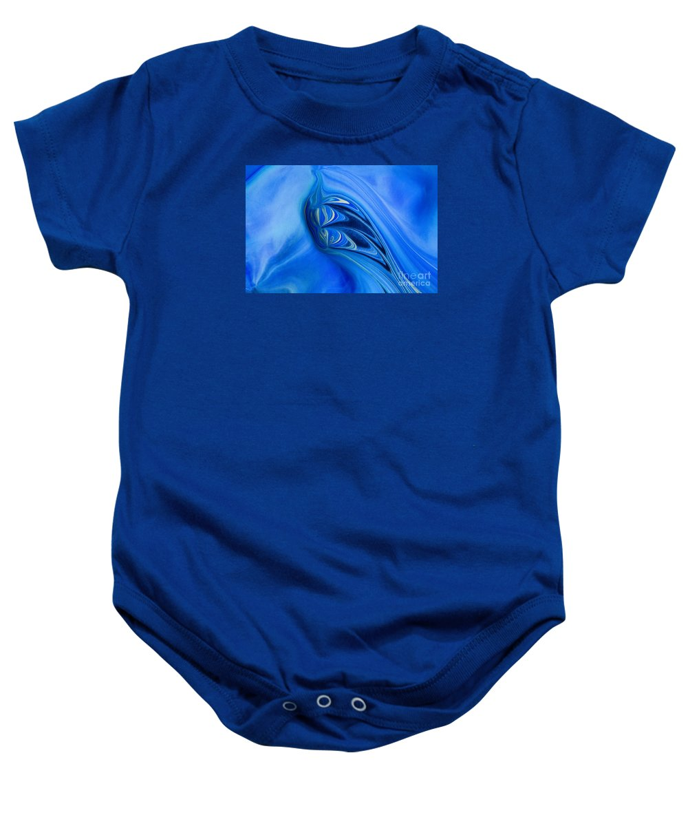 Abstract Baby Onesie featuring the painting Into The Abyss by Patti Schulze