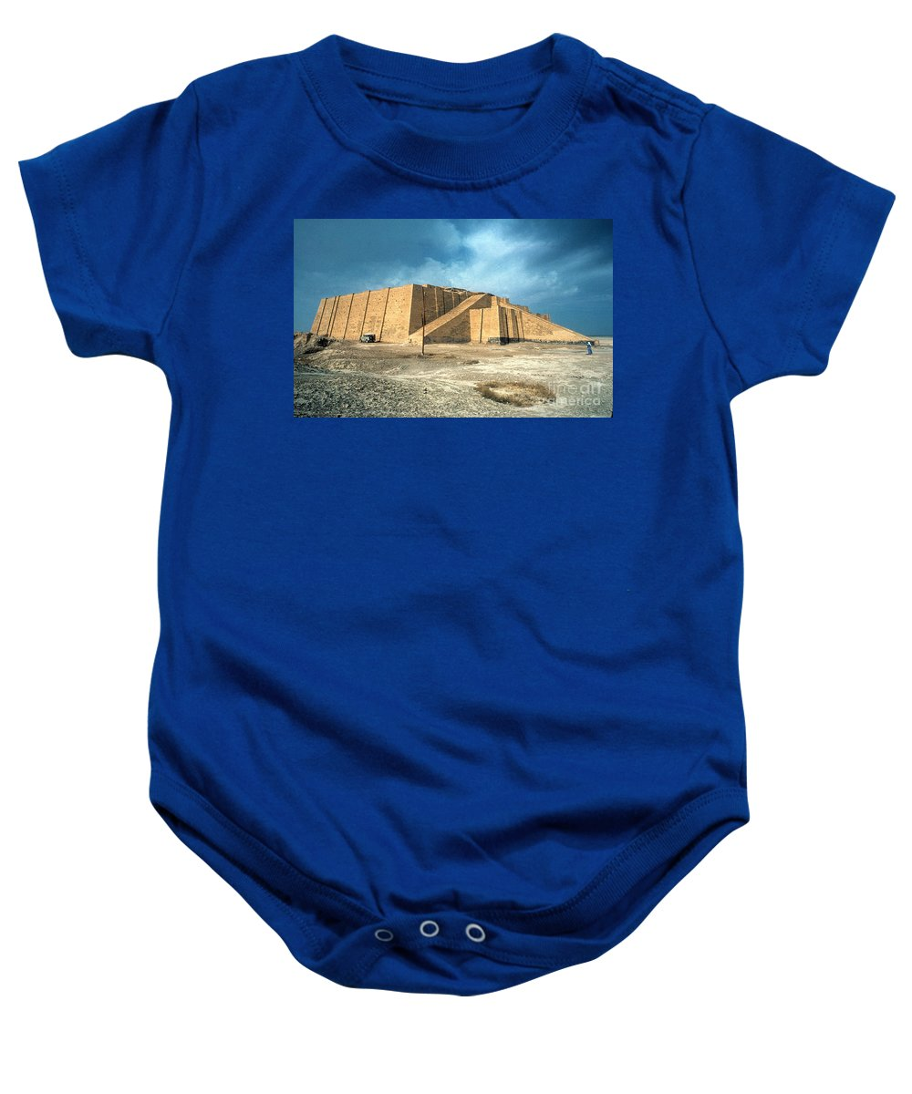 2100 B.c. Baby Onesie featuring the photograph Iraq: Ziggurat In Ur by Granger