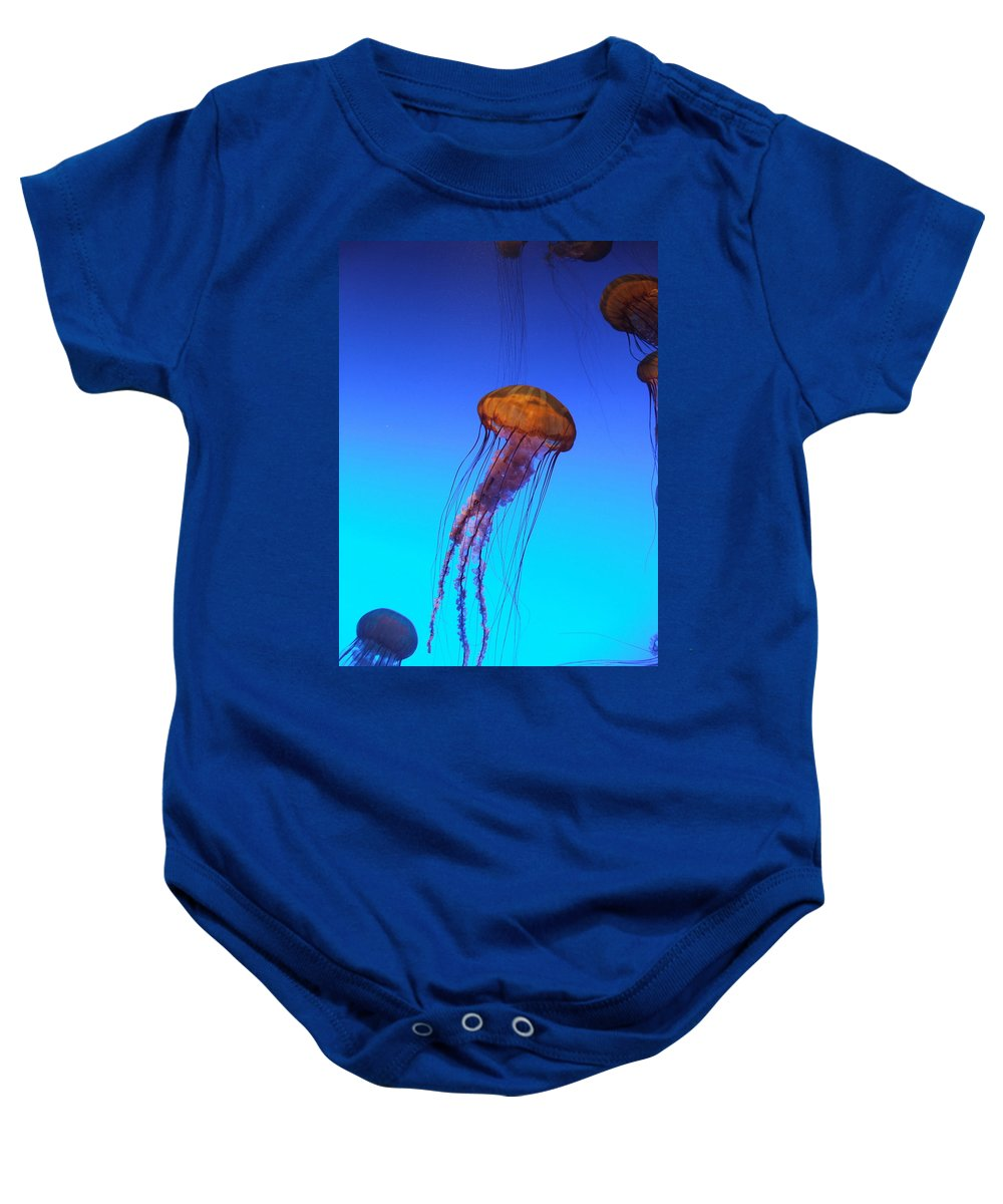 Jellyfish Baby Onesie featuring the photograph Jellyfish by Robert Meanor