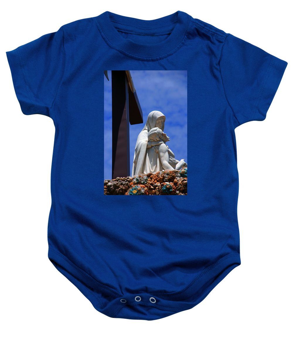 Jesus And Maria Baby Onesie featuring the photograph Jesus And Maria by Susanne Van Hulst