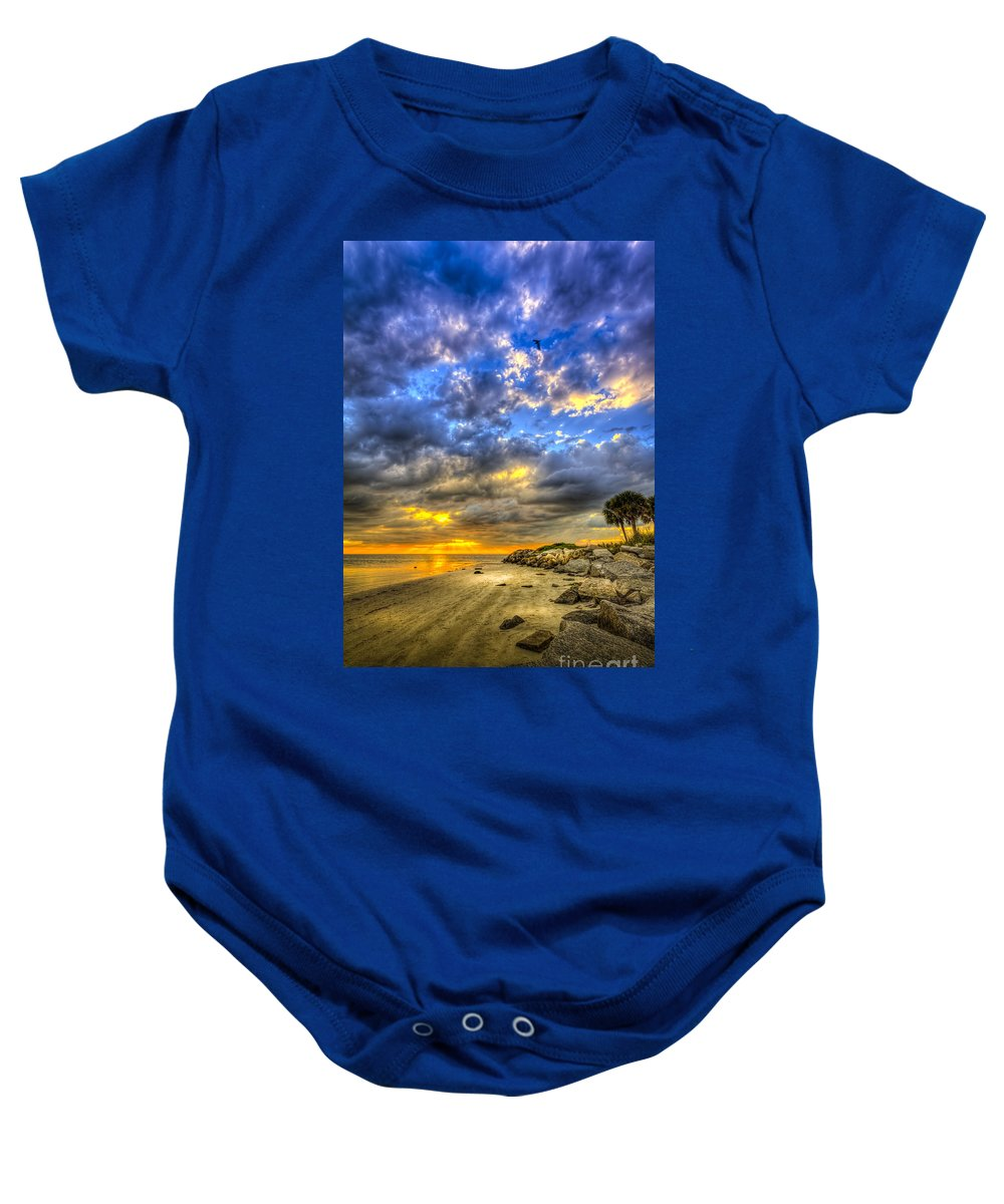 Cove Baby Onesie featuring the photograph Journey To The Sunset by Marvin Spates