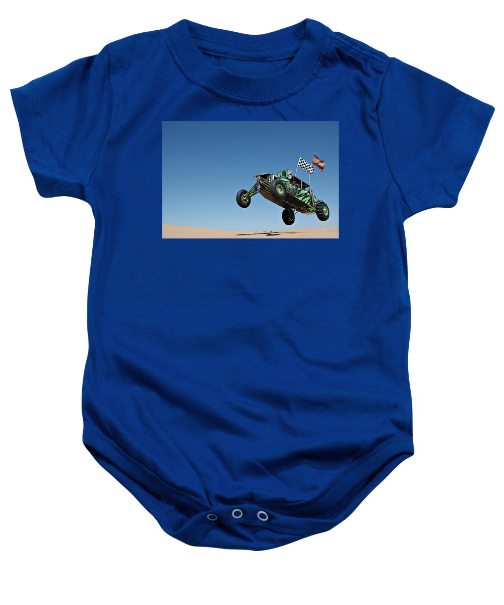 Dune Buggy Baby Onesie featuring the photograph Jumping Hulk by Scott Sawyer