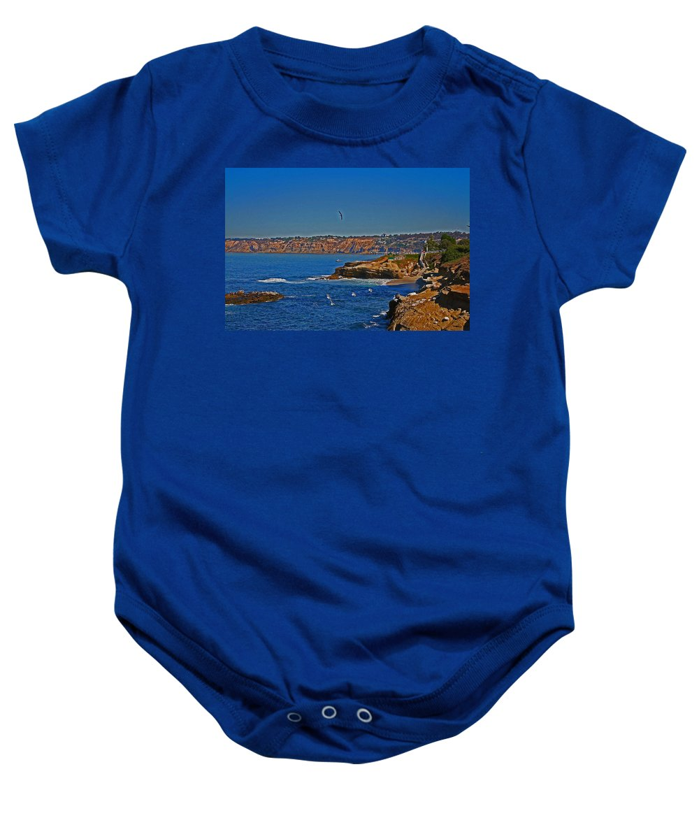 Water Baby Onesie featuring the photograph Lajolla by David Campbell