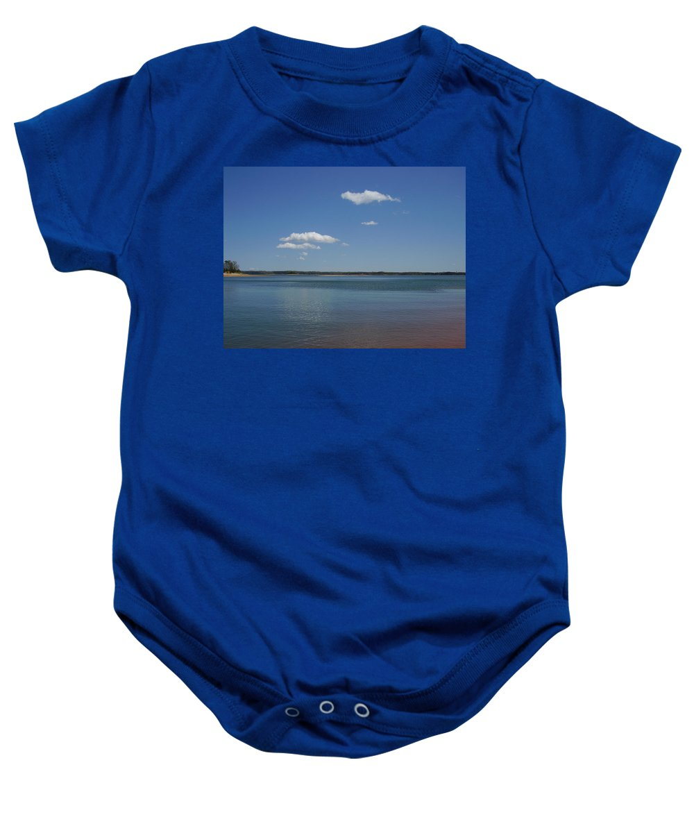 Lake Hartwell Baby Onesie featuring the photograph Lake Hartwell by Flavia Westerwelle