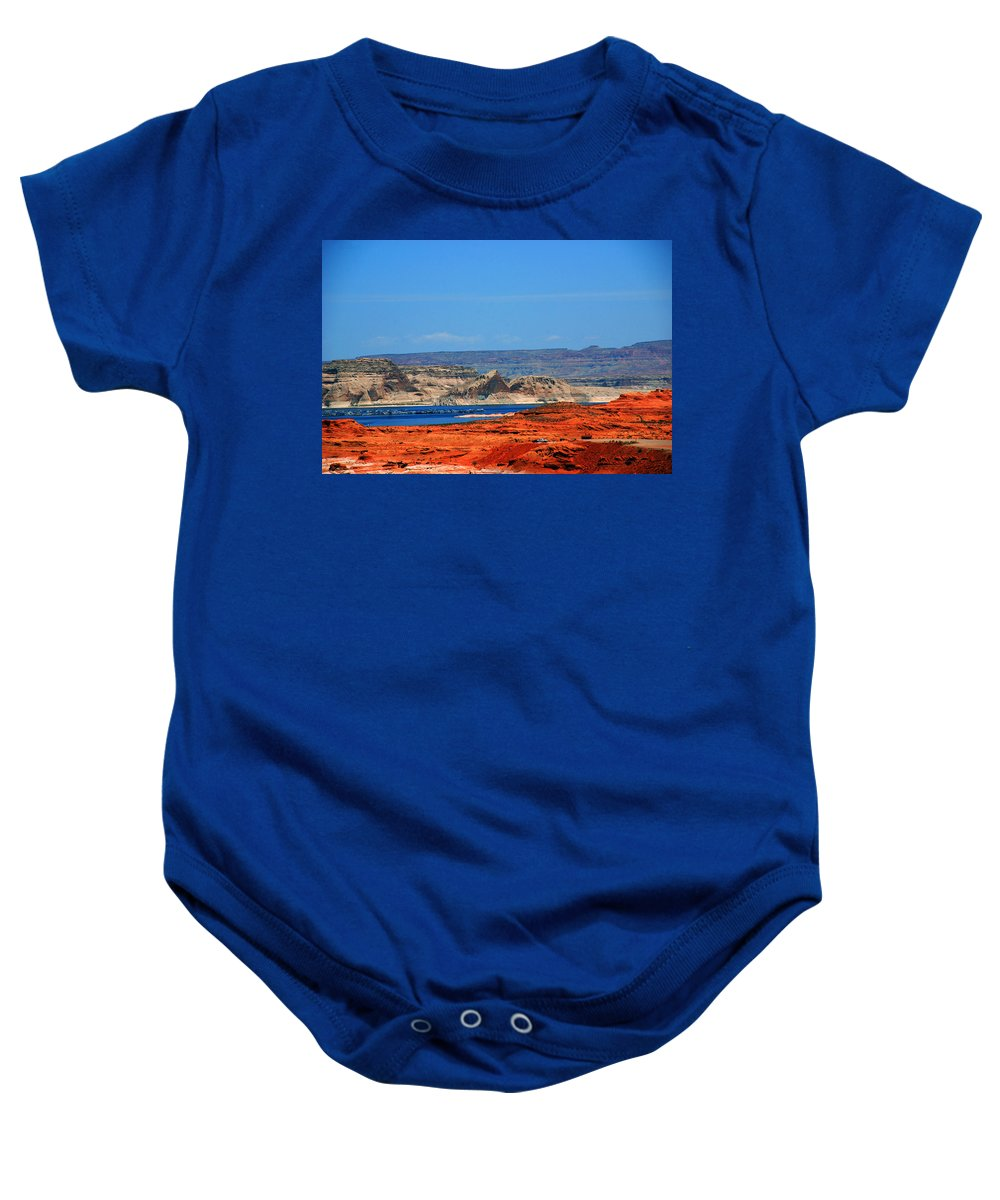 Photography Baby Onesie featuring the photograph Lake Powell Utah by Susanne Van Hulst