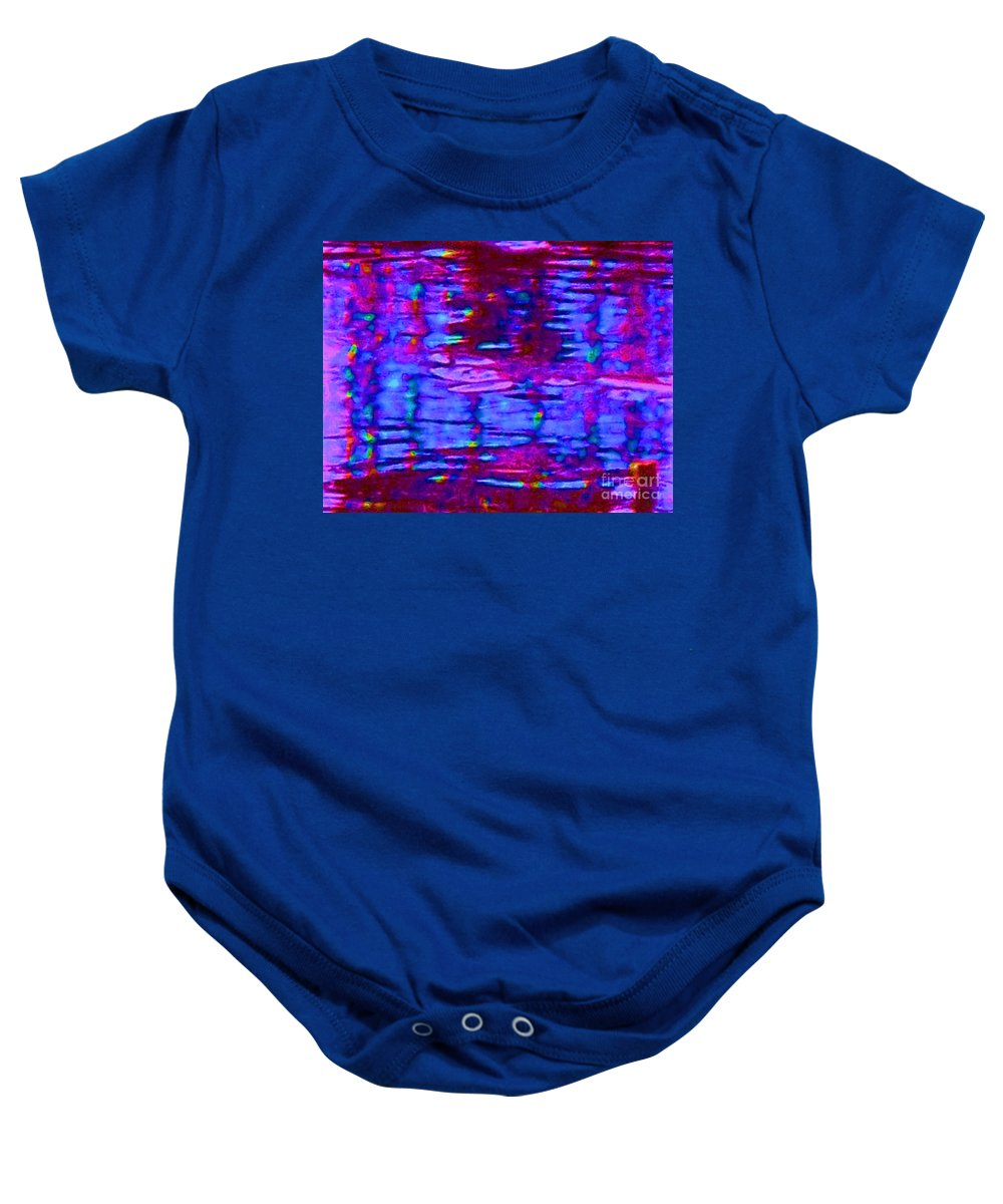 Light Baby Onesie featuring the painting Lighthouse Abstract by Eric Schiabor