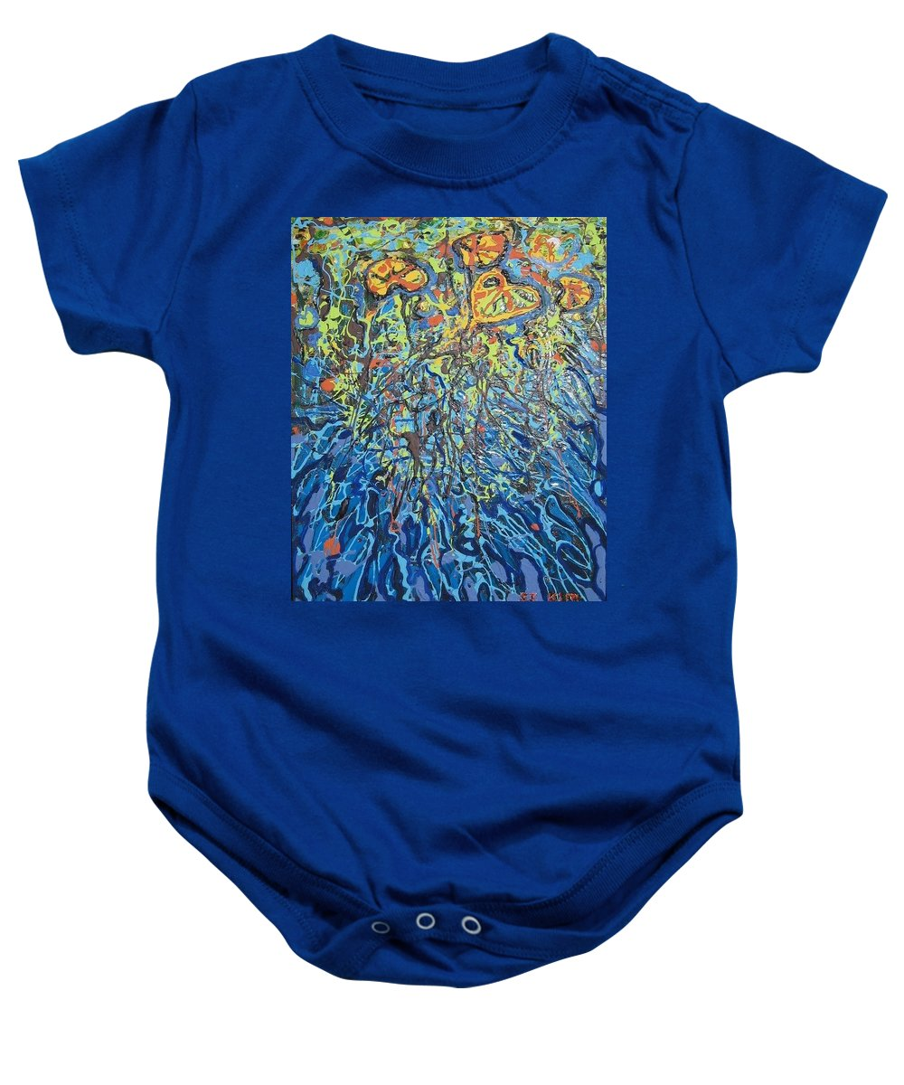 Lily Pads Paintings Baby Onesie featuring the painting Lily Pads Water Lily Paintings by Seon-Jeong Kim