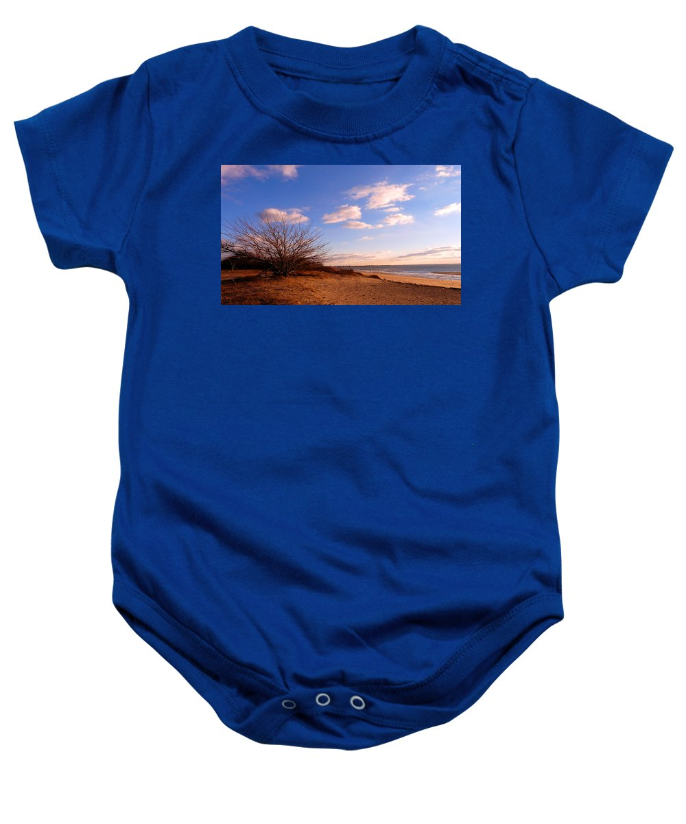 Landscape Baby Onesie featuring the photograph Listen To The Quiet by Kendall Eutemey