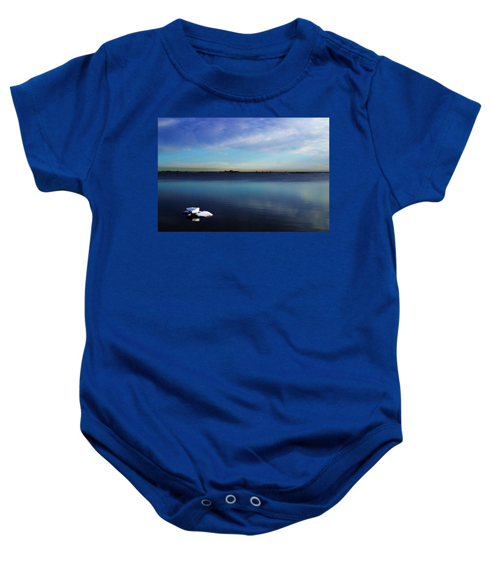Landscape Baby Onesie featuring the photograph Lone Ice by Anthony Jones