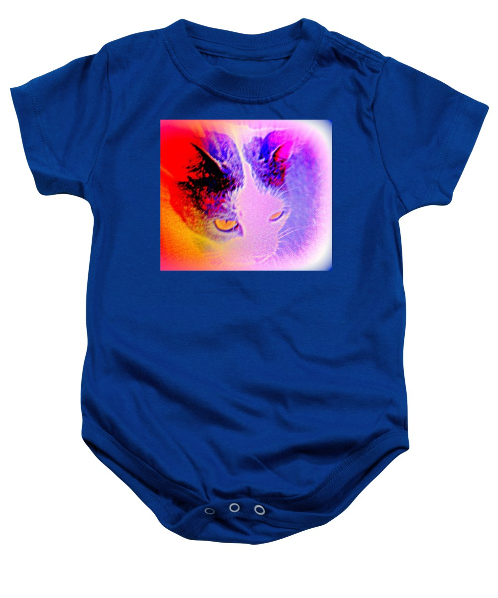 Poster Baby Onesie featuring the photograph Love Me Tender, Love Me True, Never Let Me Down by Hilde Widerberg