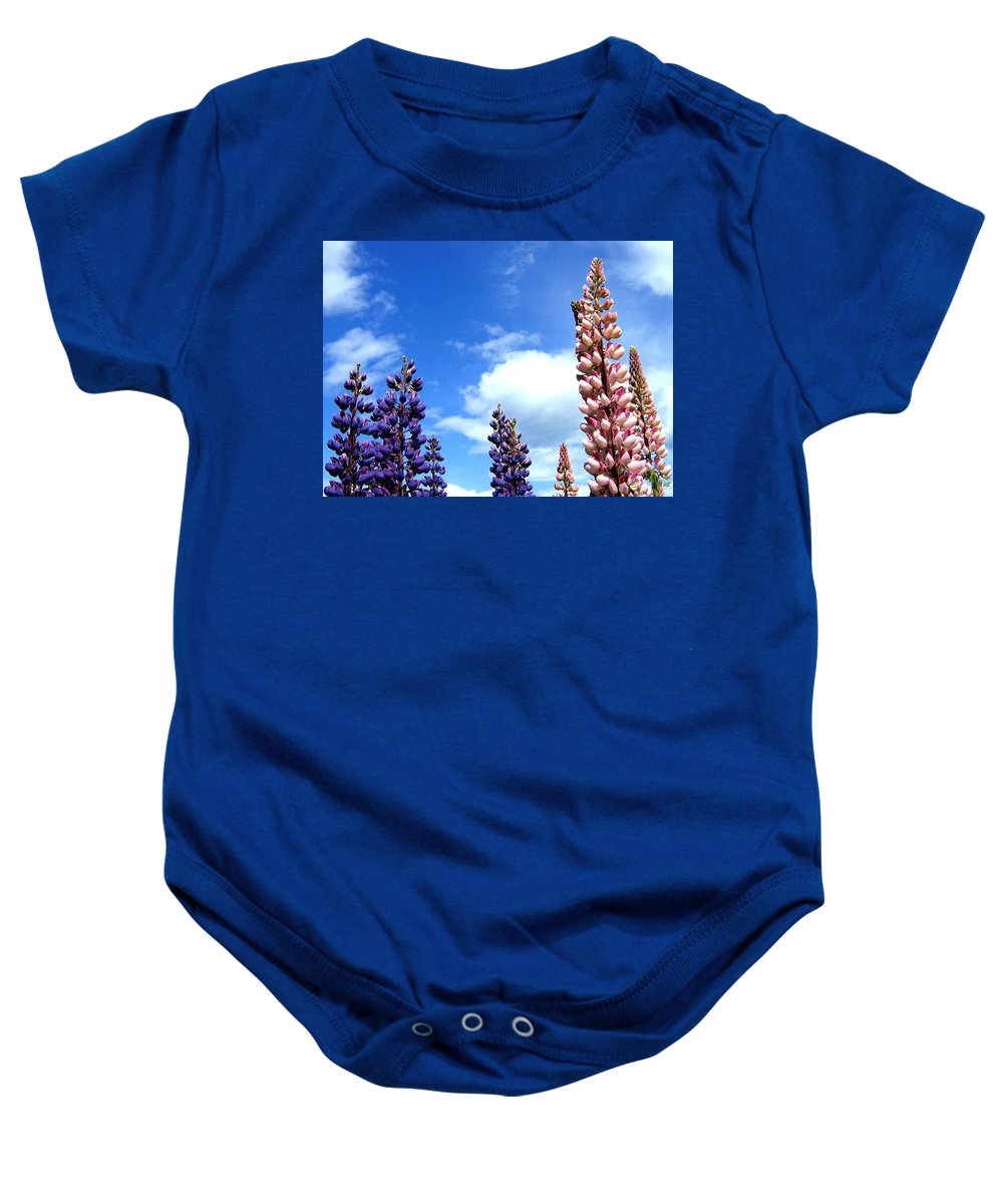 Lupins Baby Onesie featuring the photograph Lupins by Will Borden
