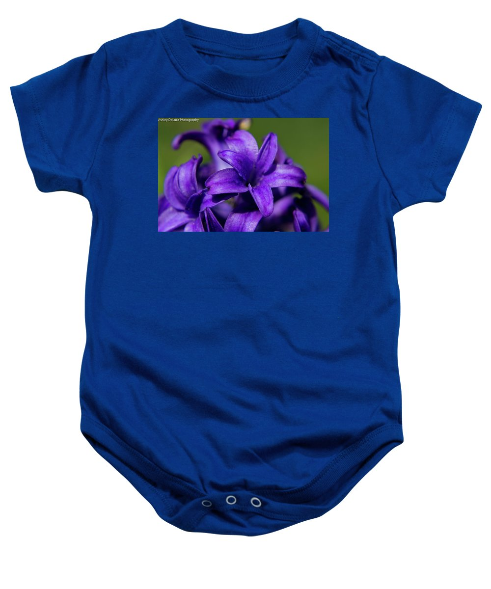 Flower Baby Onesie featuring the photograph Hyacinth by Ashley Kent