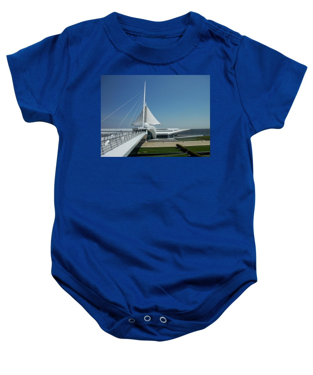 Mam Baby Onesie featuring the photograph Mam Series 1 by Anita Burgermeister