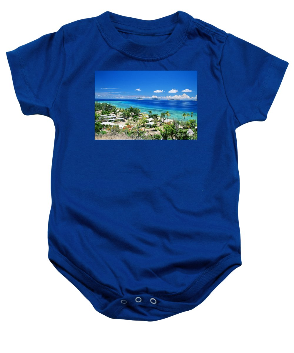 Beautiful Baby Onesie featuring the photograph Mana Island by Dave Fleetham - Printscapes