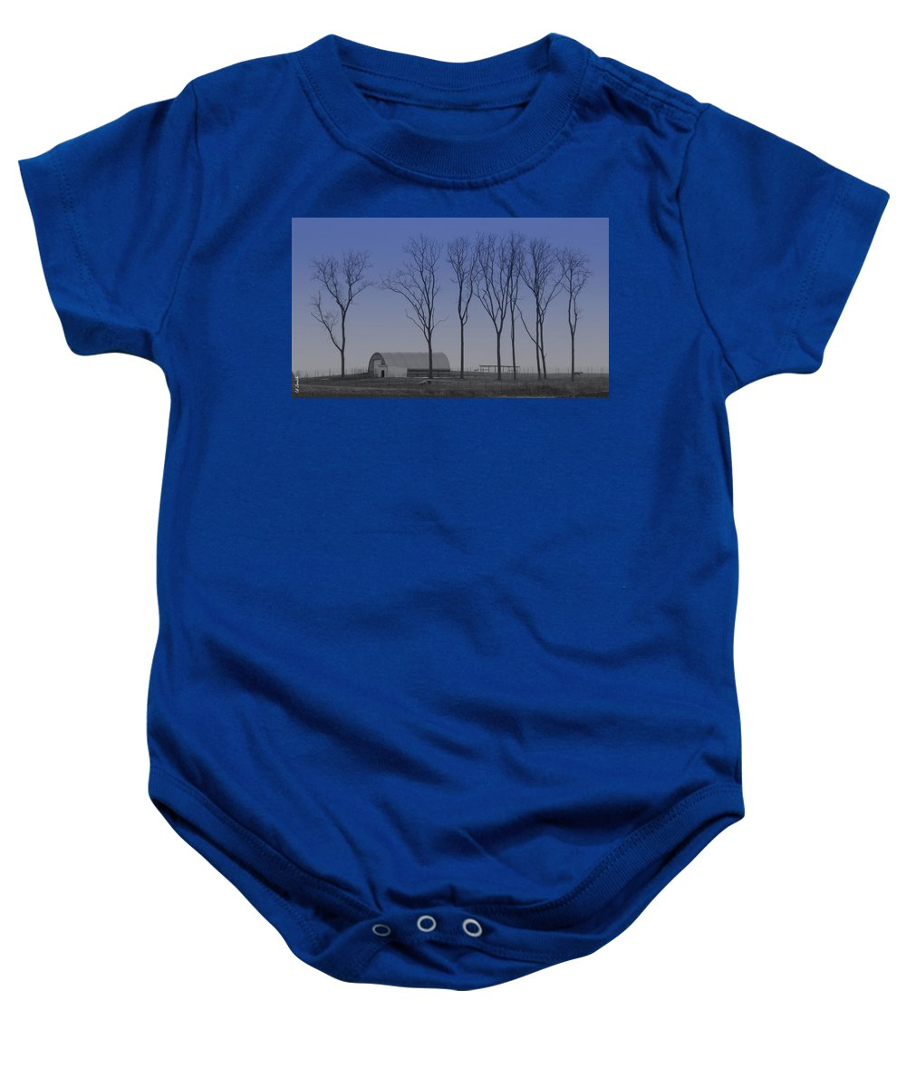 Matching Curves Baby Onesie featuring the photograph Matching Curves by Ed Smith