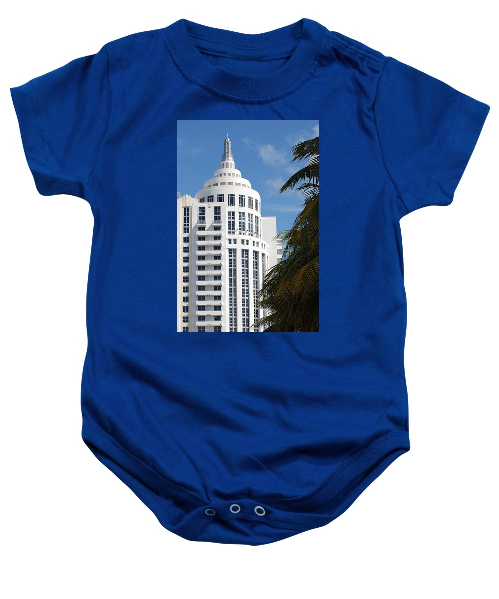 Architecture Baby Onesie featuring the photograph Miami S Capitol Building by Rob Hans