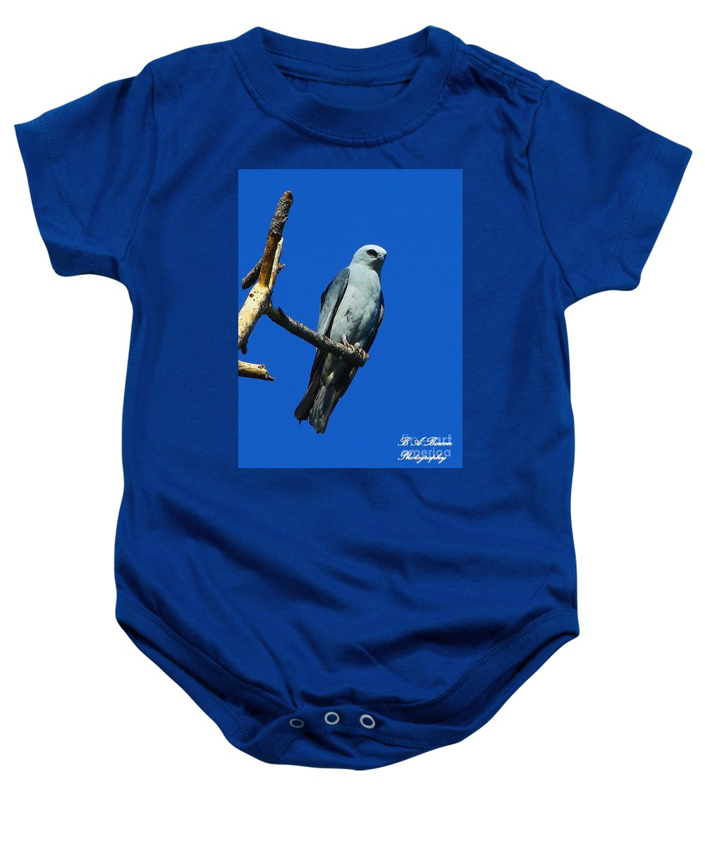 Mississippi Kite Baby Onesie featuring the photograph Mississippi Kite by Barbara Bowen