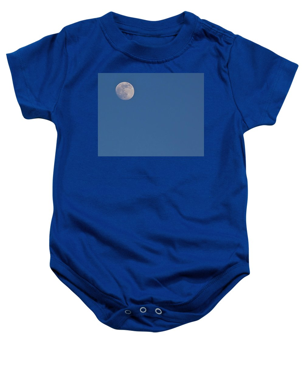 Astronomy Baby Onesie featuring the photograph Moon by Gary Adkins