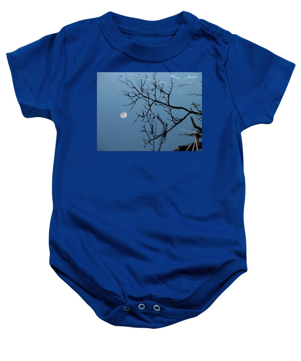 Moon Baby Onesie featuring the photograph Moon Reflection by J M Farris Photography