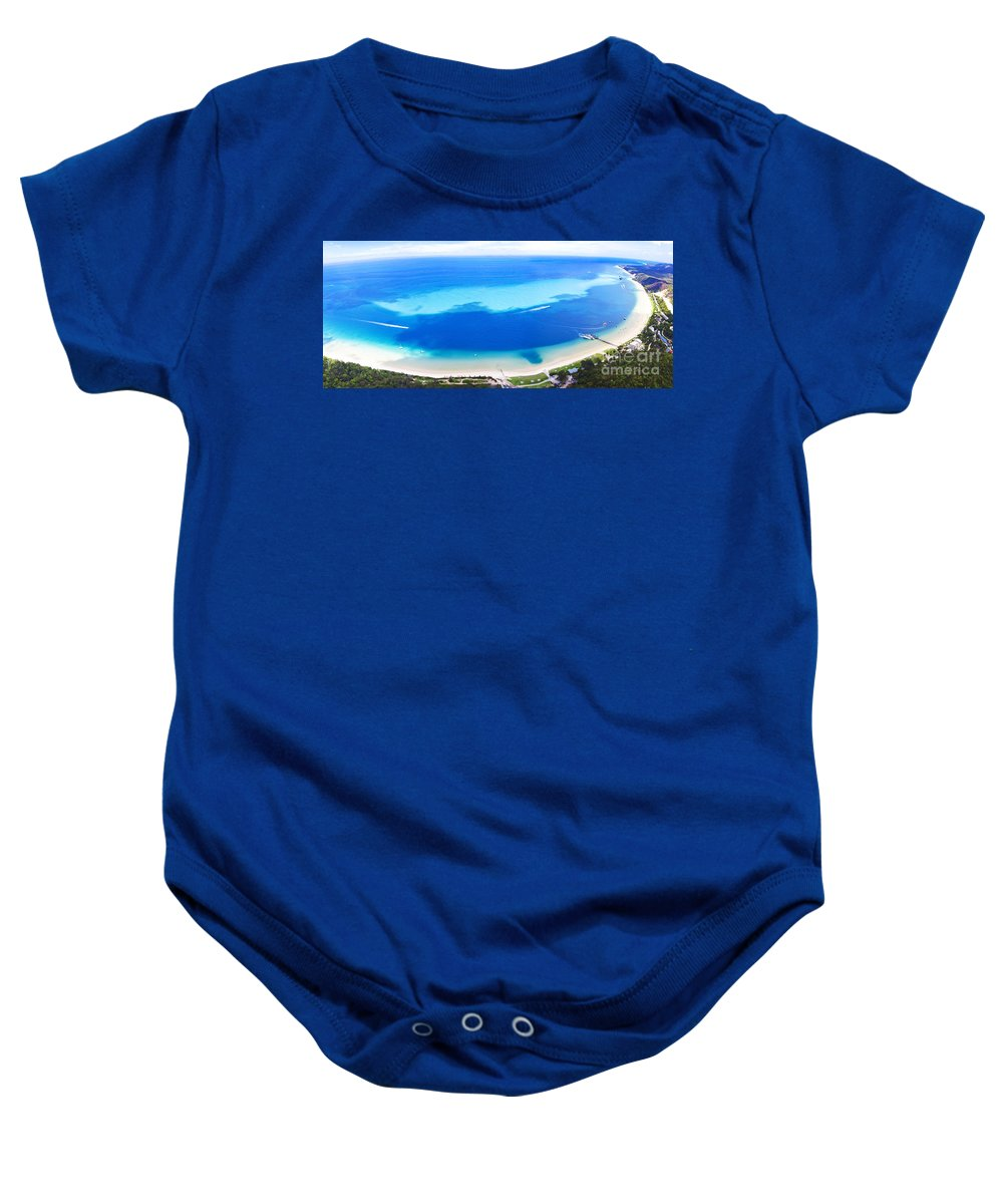 Aerial Baby Onesie featuring the photograph Moreton Island Aerial View by Jorgo Photography - Wall Art Gallery