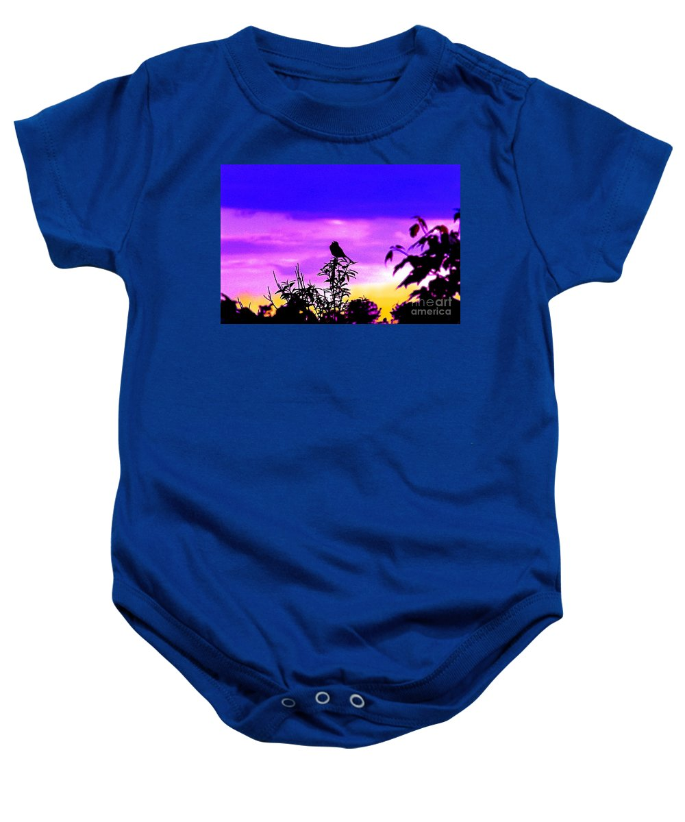 Sunrise Baby Onesie featuring the photograph Morning Song by Jeff McJunkin