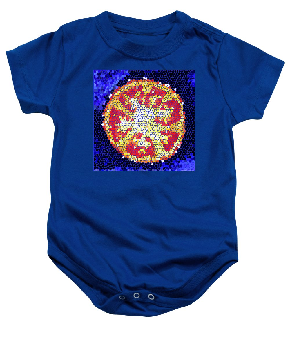 Tomato Baby Onesie featuring the photograph Mosaic Tomato by Nancy Mueller