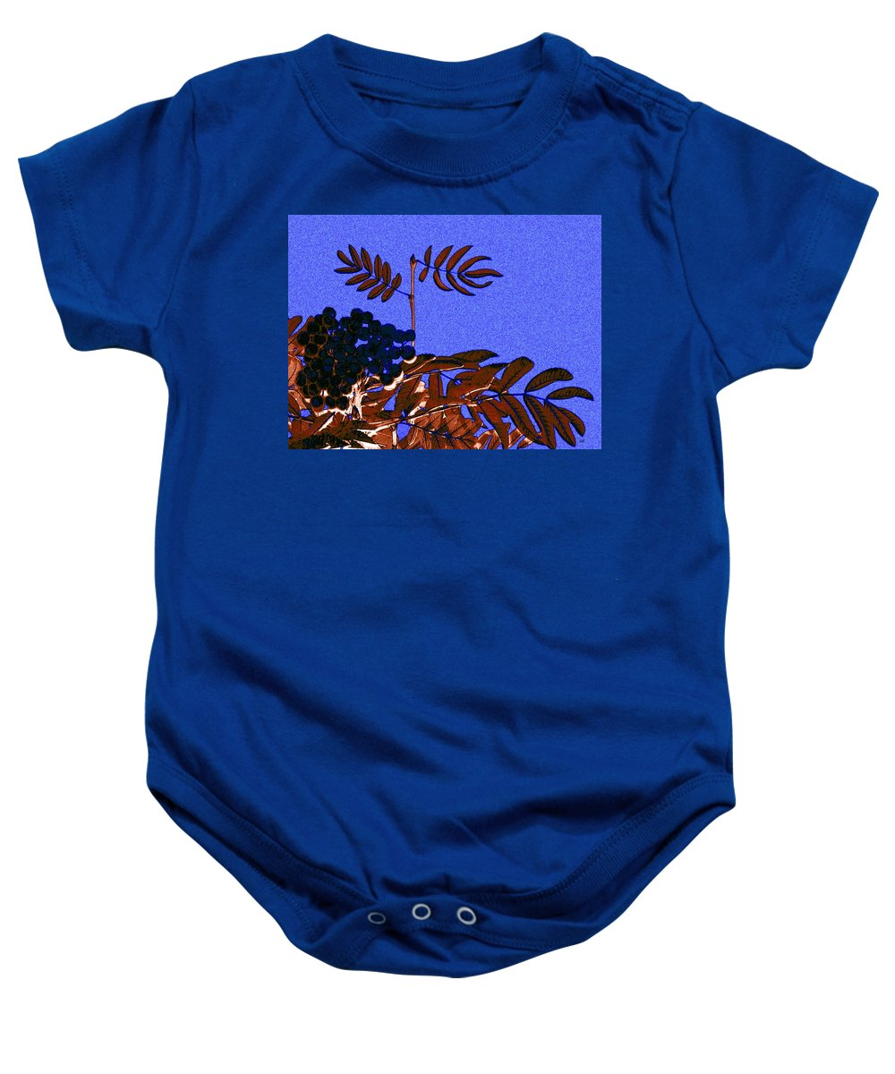 Abstract Baby Onesie featuring the digital art Mountain Ash Design by Will Borden