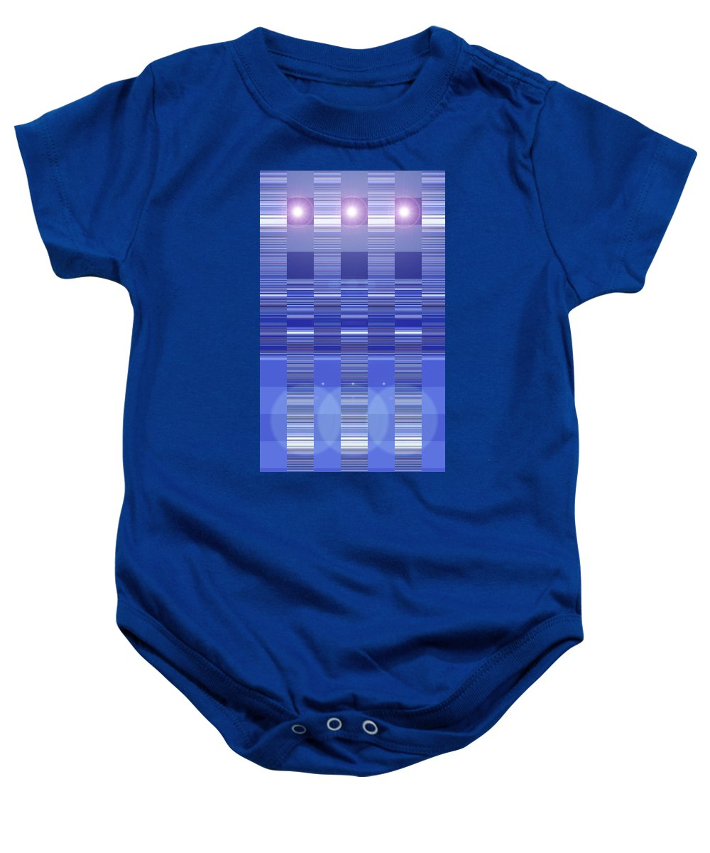 Moveonart! Digital Gallery Baby Onesie featuring the digital art Moveonart Blue Program One by Jacob Kanduch
