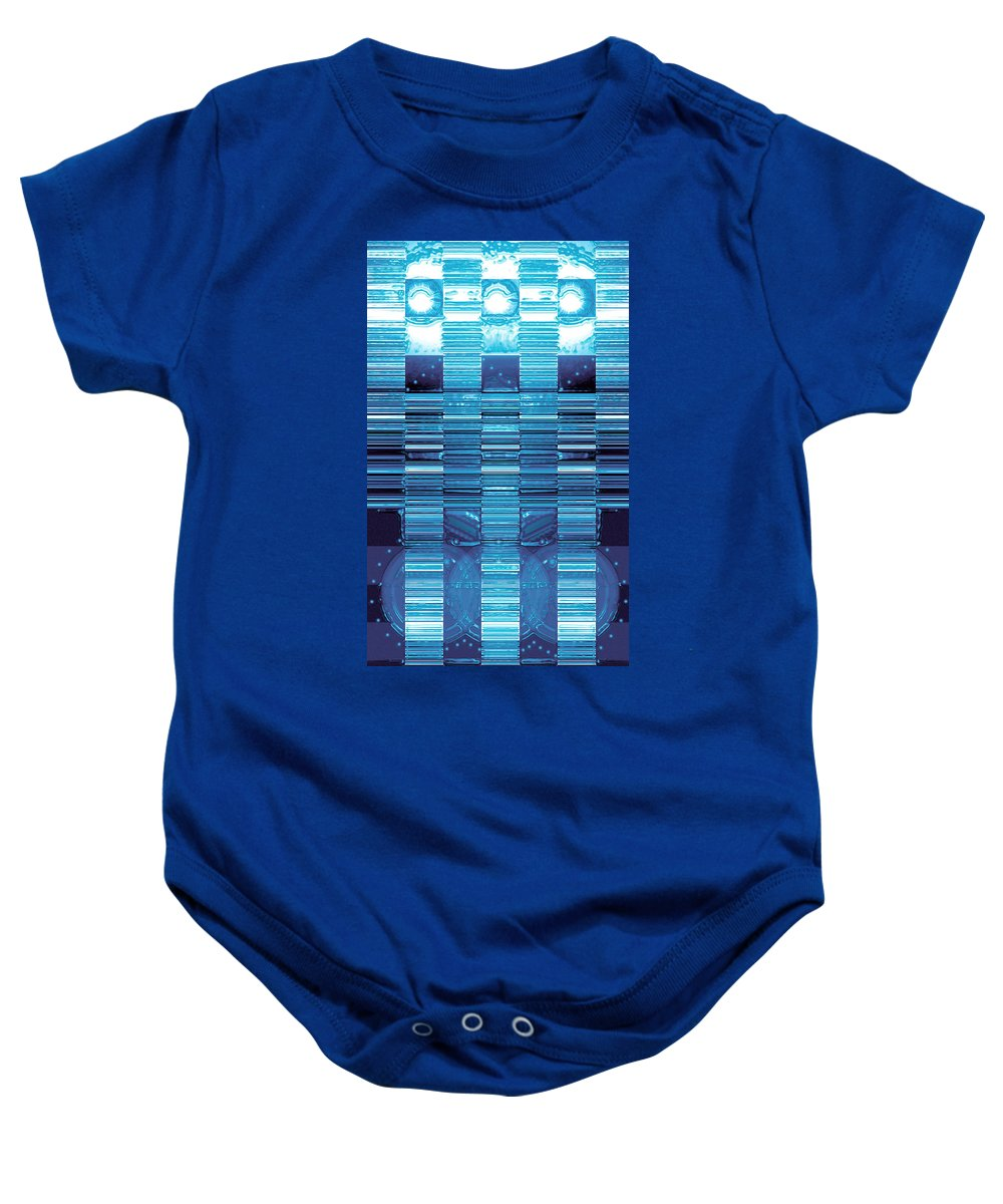 Moveonart! Digital Gallery Baby Onesie featuring the digital art Moveonart Finding Cool Impressive Meaning by Jacob Kanduch