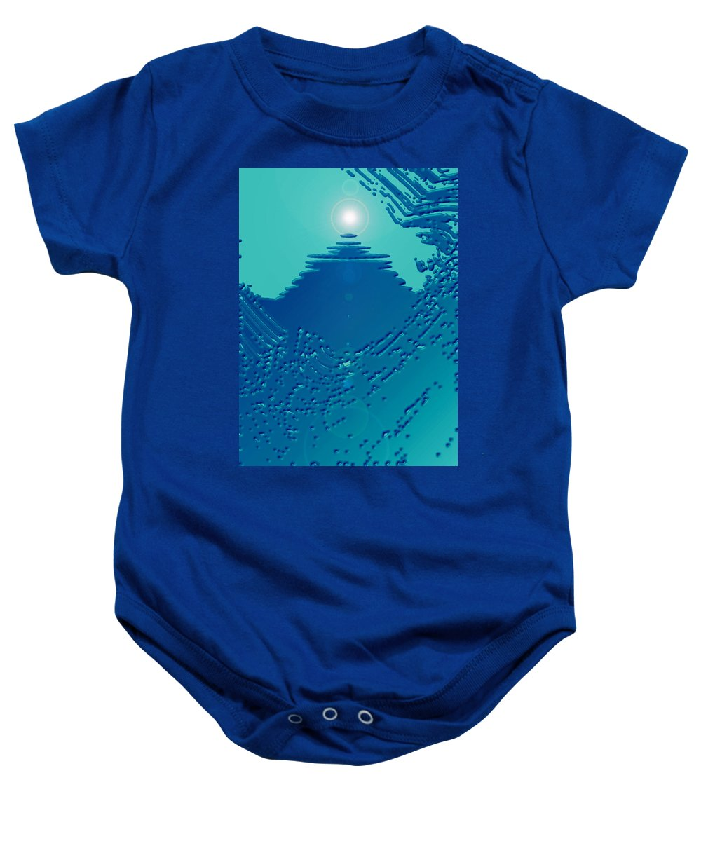 Moveonart! Digital Gallery Baby Onesie featuring the digital art Moveonart Green Memories One by Jacob Kanduch