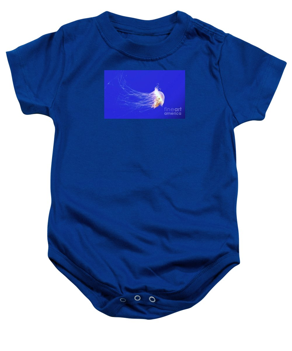 Jellyfish Baby Onesie featuring the photograph Mr.jelly by Vanessa Palomino