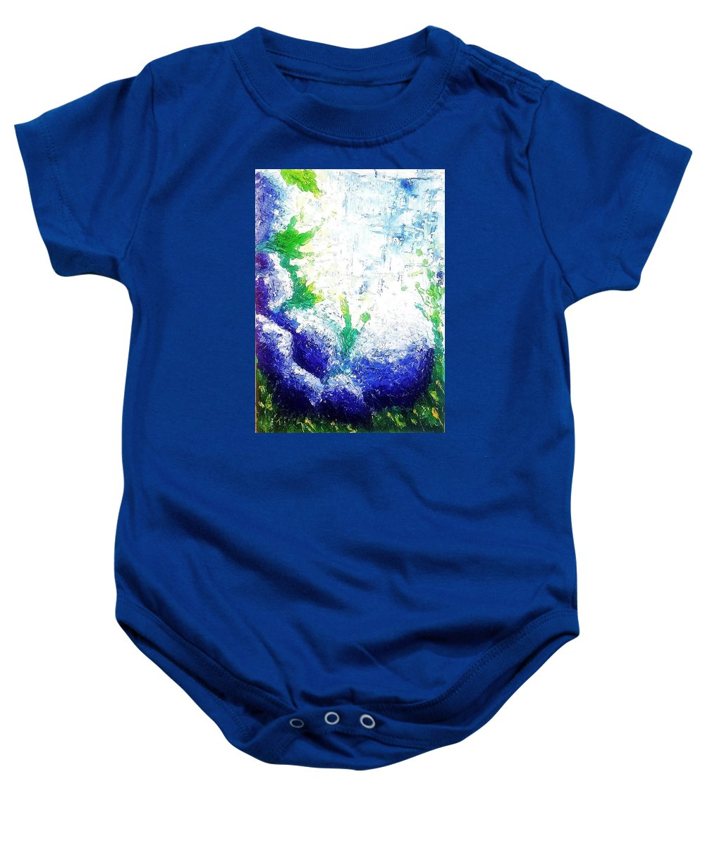 Nature Baby Onesie featuring the painting Nature by Denisa Olbojan