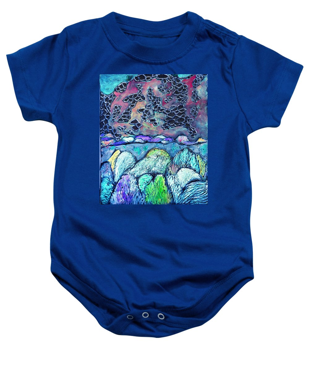Landscape Baby Onesie featuring the painting New Mexico Landscape by Wayne Potrafka