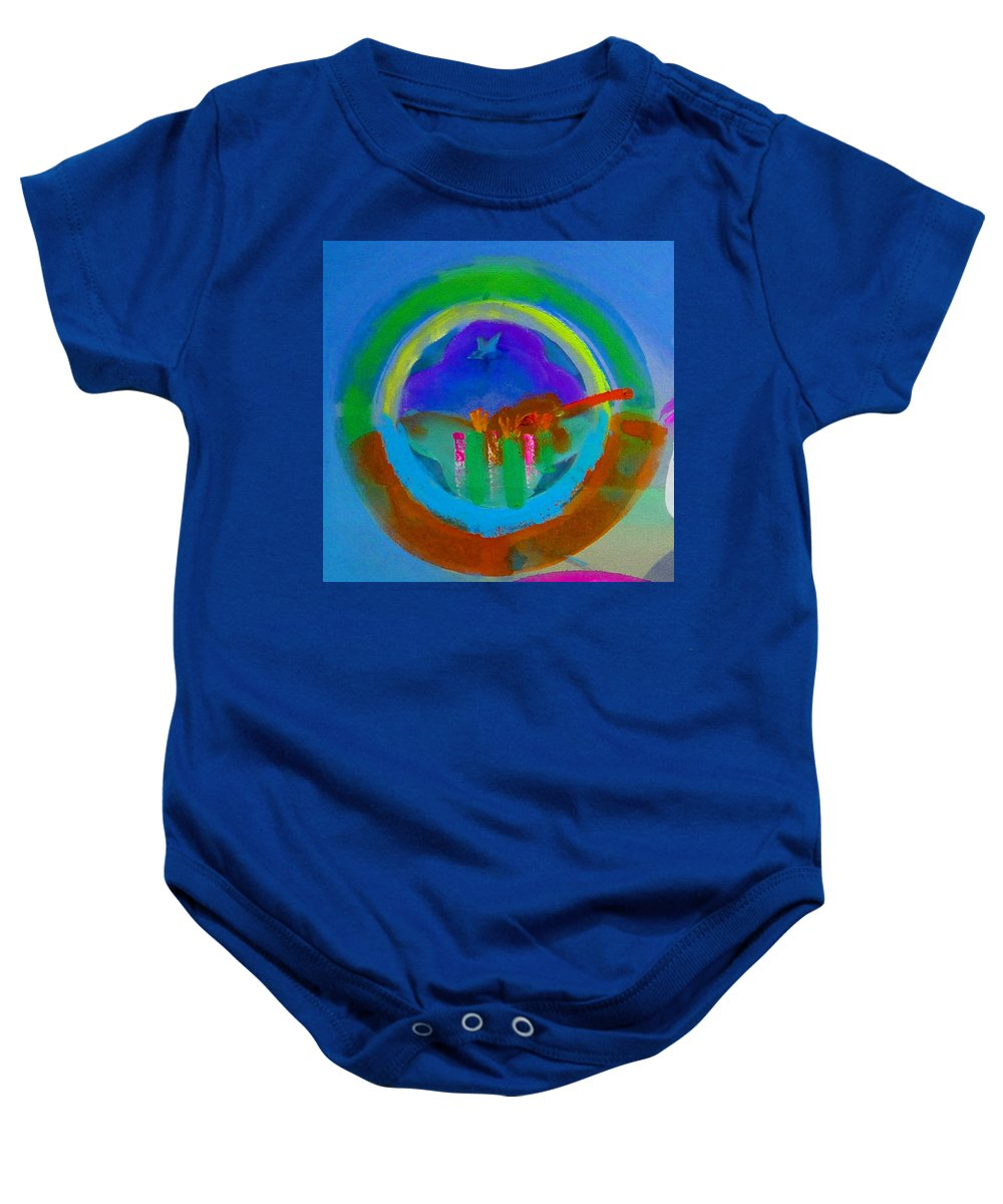 Love Baby Onesie featuring the painting New World Spring by Charles Stuart
