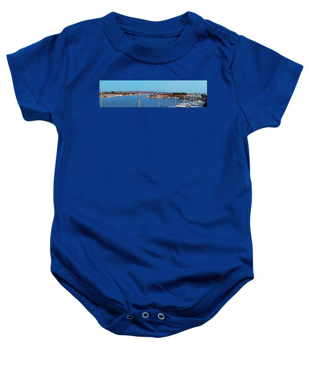 Newport Beach Baby Onesie featuring the photograph Newport Beach Harbor At Dusk by Kelley King