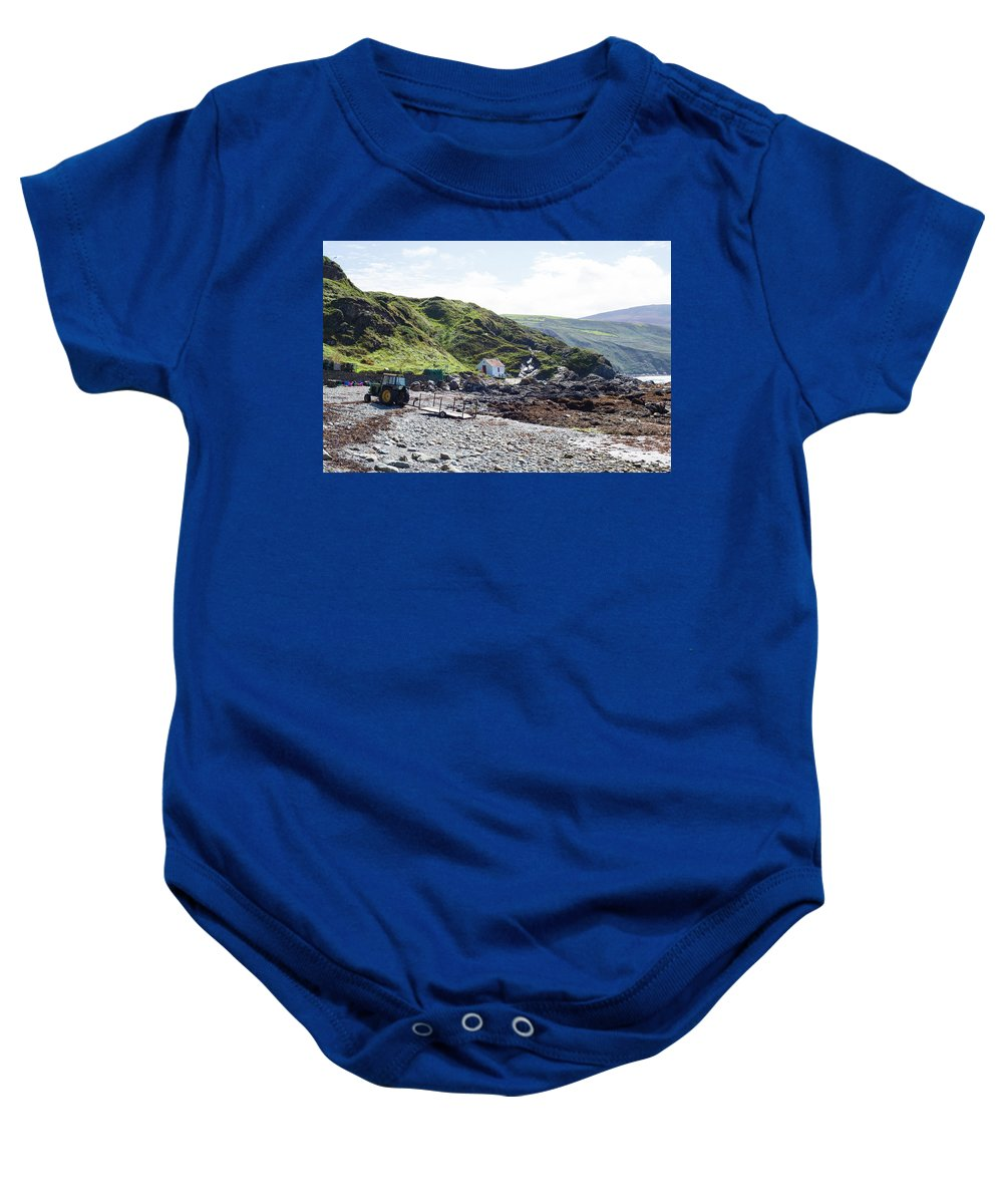 Eclectickle Baby Onesie featuring the photograph Niabyl Tractor by Eclectickle Art and Photography