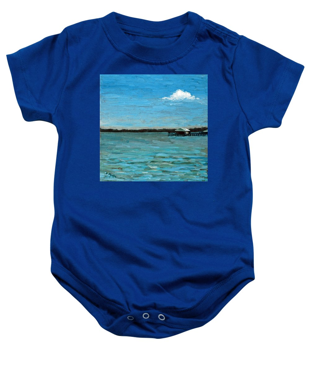 Acrylic Baby Onesie featuring the painting No Rain Today by Suzanne McKee