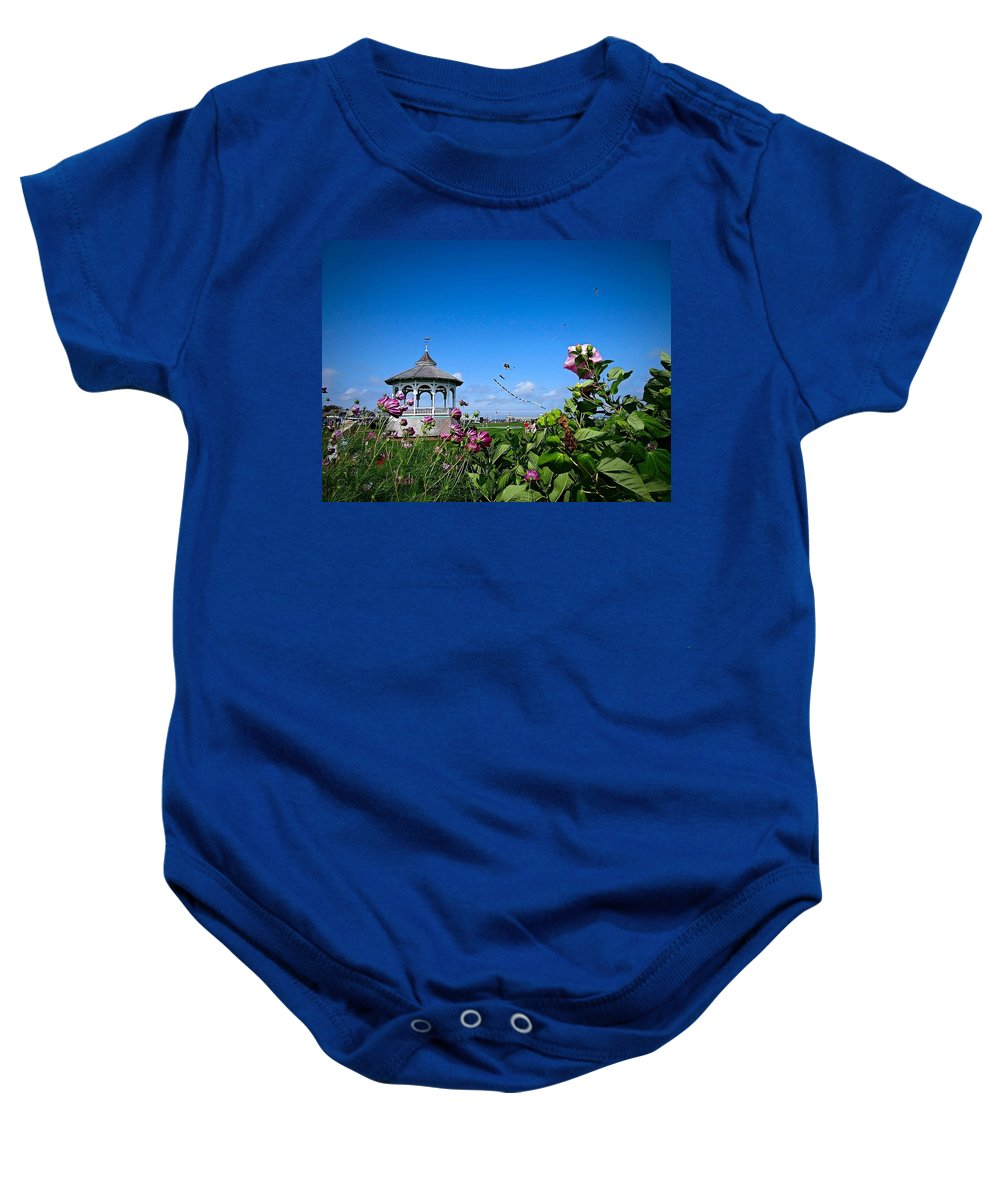 Landscape Baby Onesie featuring the photograph Ocean Park Wind Festival by Marnie Malone