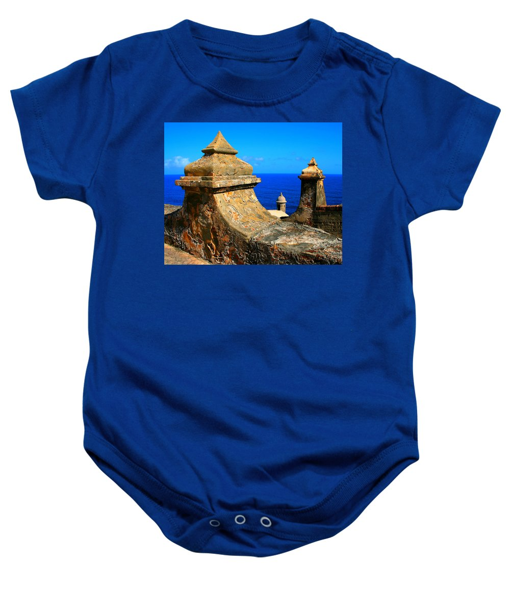 Fort Baby Onesie featuring the photograph Old Fort Puerto Rico by Perry Webster