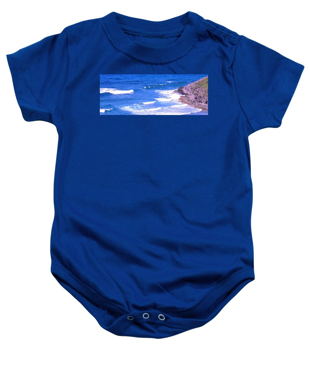 Atlantic Baby Onesie featuring the photograph One After Another by Ian MacDonald