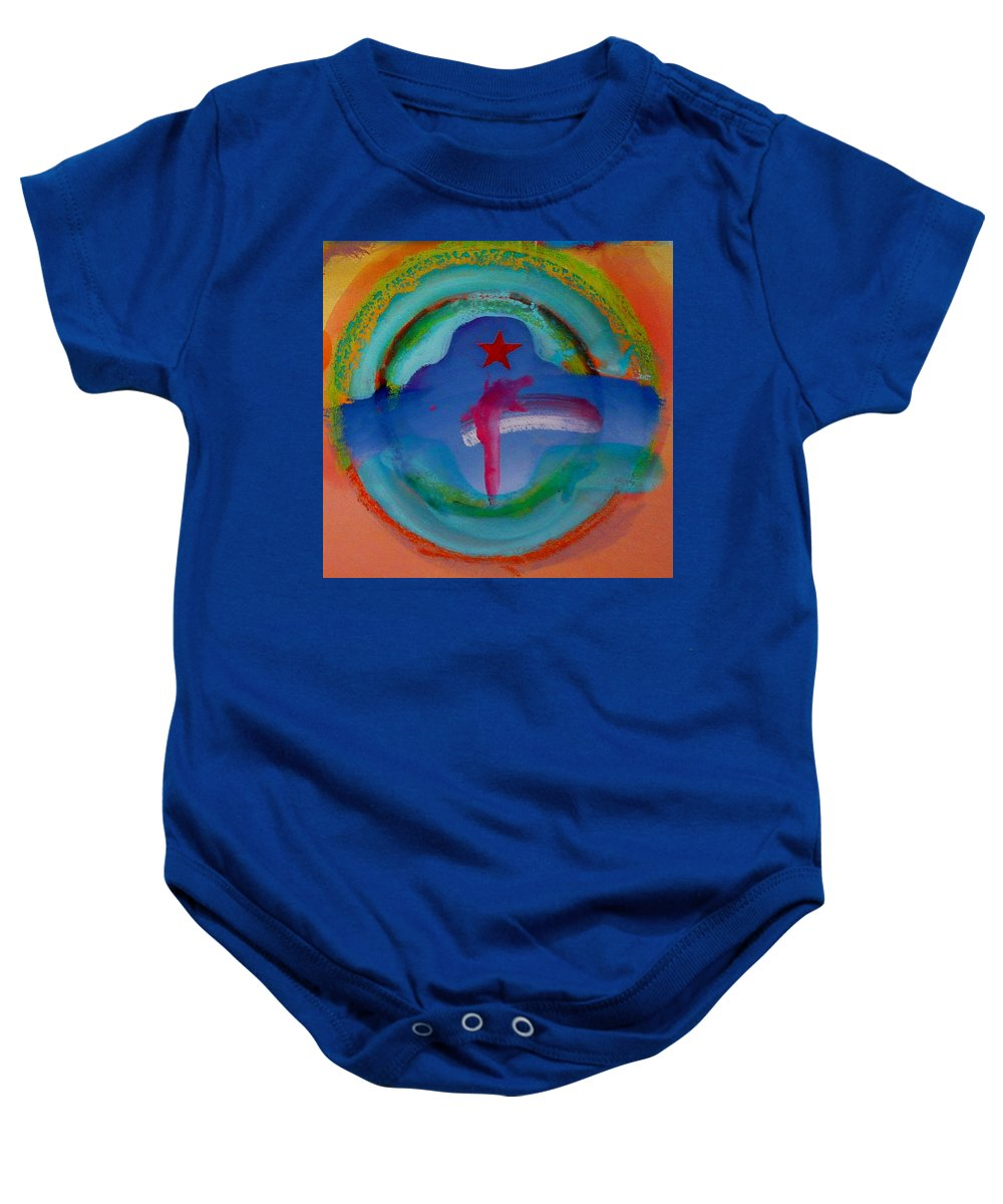 Logo Baby Onesie featuring the painting one by Charles Stuart