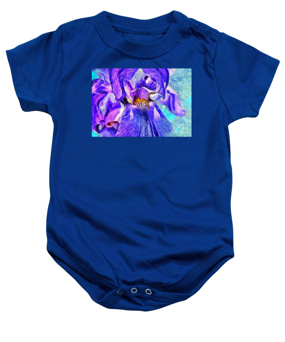Iris Baby Onesie featuring the photograph One Of A Kind by Krissy Katsimbras