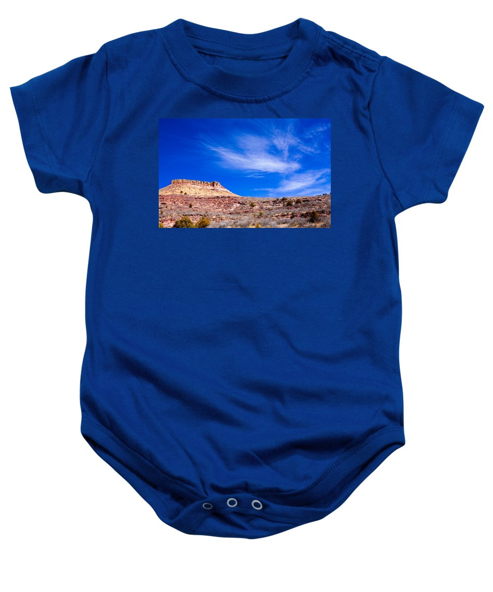 Red Baby Onesie featuring the photograph Outside Lyons Colorado by Marilyn Hunt