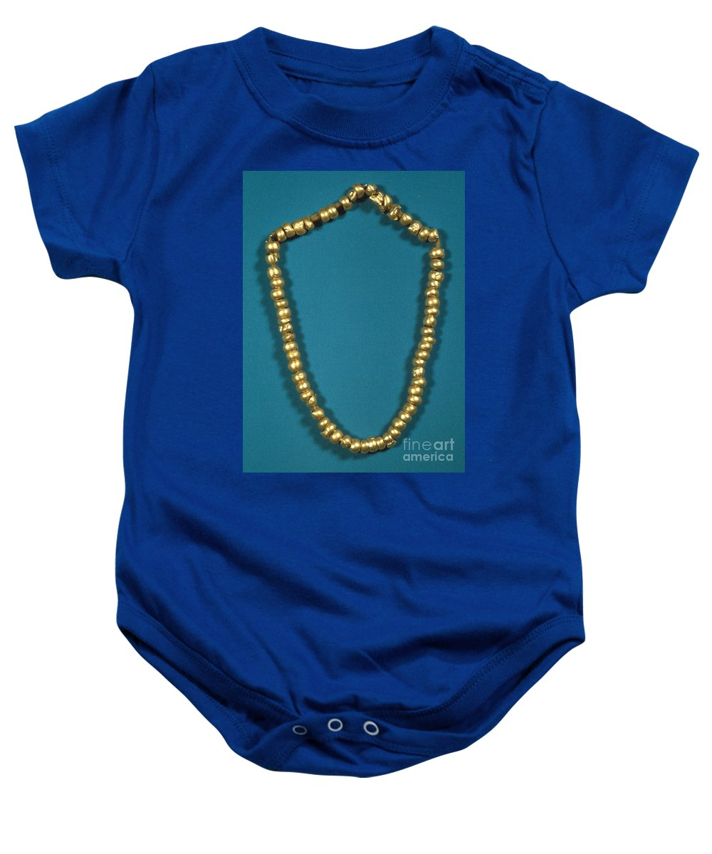 1000 Baby Onesie featuring the photograph Panama: Gold Beads, C1000 by Granger